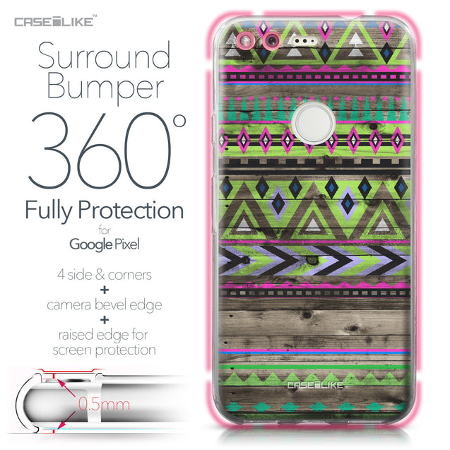Google Pixel case Indian Tribal Theme Pattern 2049 Bumper Case Protection | CASEiLIKE.com