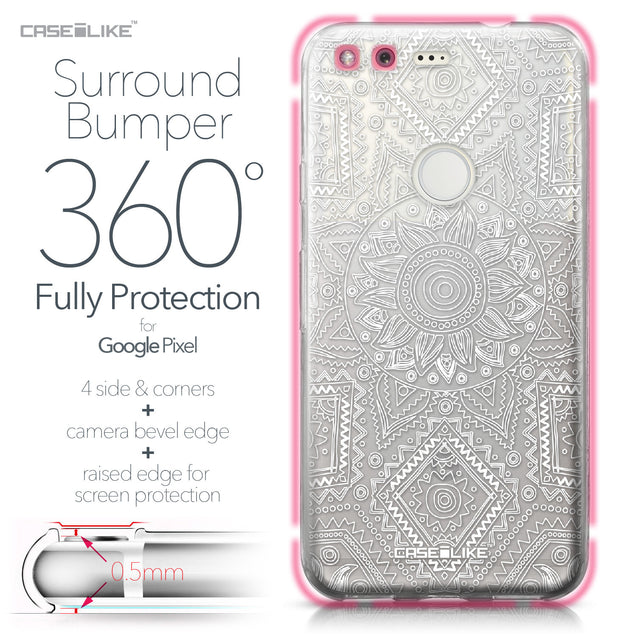Google Pixel case Indian Line Art 2061 Bumper Case Protection | CASEiLIKE.com