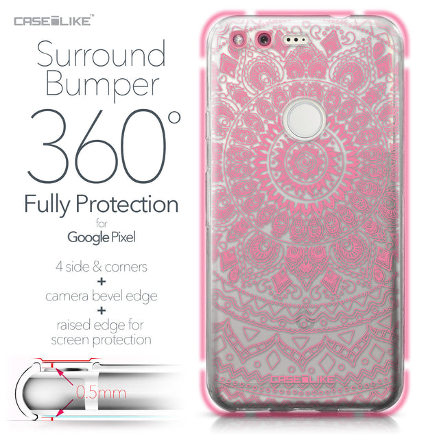 Google Pixel case Indian Line Art 2062 Bumper Case Protection | CASEiLIKE.com