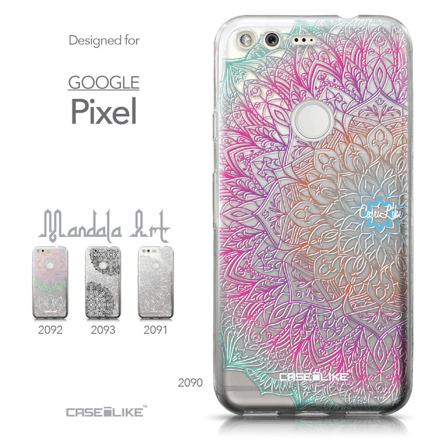 Google Pixel case Mandala Art 2090 Collection | CASEiLIKE.com