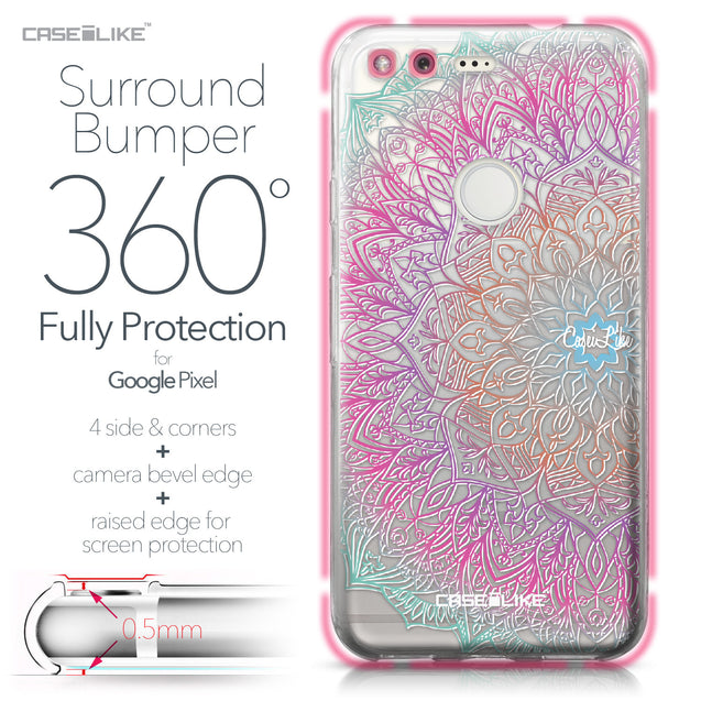 Google Pixel case Mandala Art 2090 Bumper Case Protection | CASEiLIKE.com