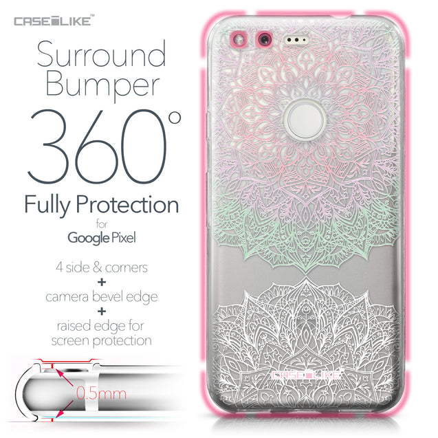 Google Pixel case Mandala Art 2092 Bumper Case Protection | CASEiLIKE.com