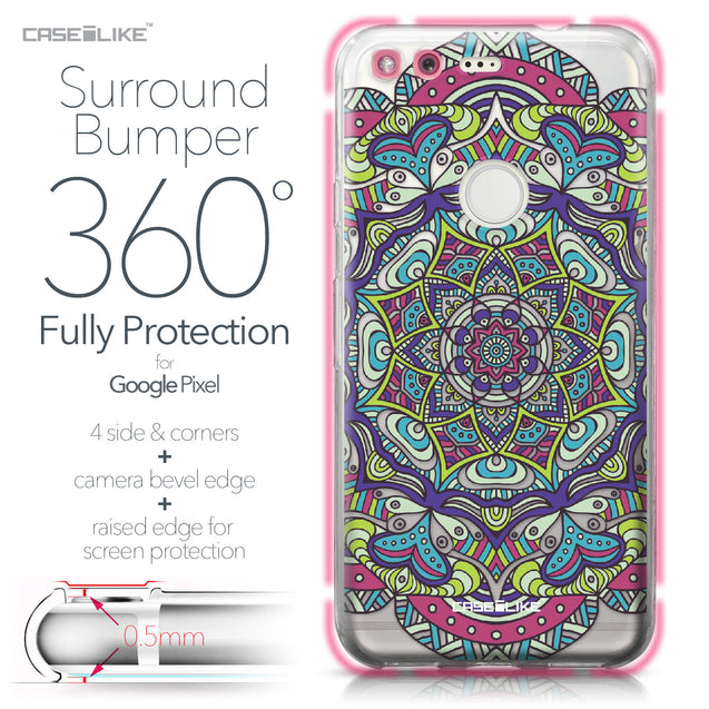 Google Pixel case Mandala Art 2094 Bumper Case Protection | CASEiLIKE.com