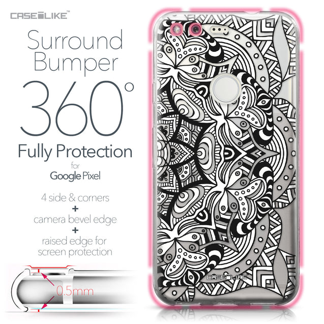 Google Pixel case Mandala Art 2096 Bumper Case Protection | CASEiLIKE.com