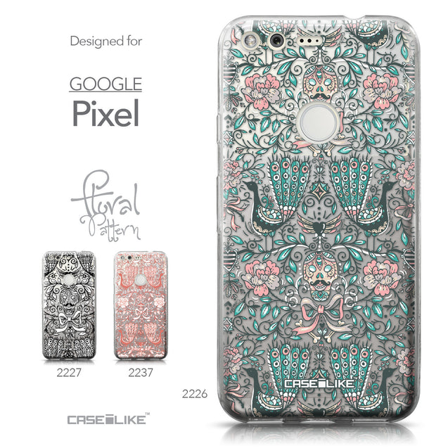 Google Pixel case Roses Ornamental Skulls Peacocks 2226 Collection | CASEiLIKE.com