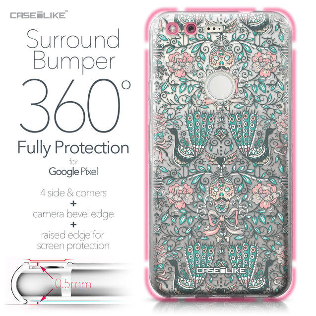 Google Pixel case Roses Ornamental Skulls Peacocks 2226 Bumper Case Protection | CASEiLIKE.com
