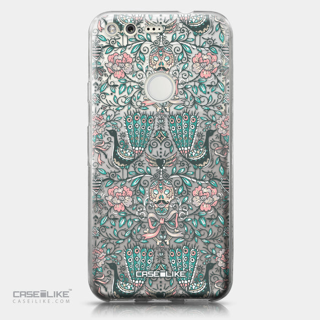 Google Pixel case Roses Ornamental Skulls Peacocks 2226 | CASEiLIKE.com