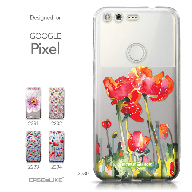 Google Pixel case Watercolor Floral 2230 Collection | CASEiLIKE.com