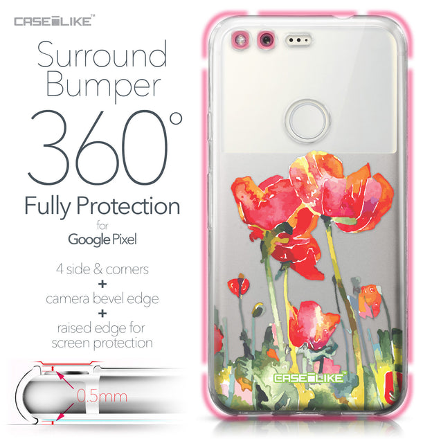 Google Pixel case Watercolor Floral 2230 Bumper Case Protection | CASEiLIKE.com