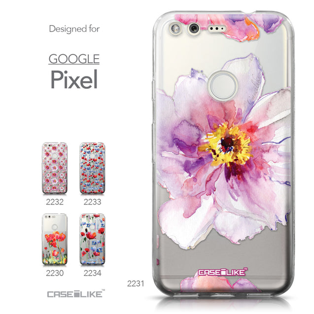 Google Pixel case Watercolor Floral 2231 Collection | CASEiLIKE.com
