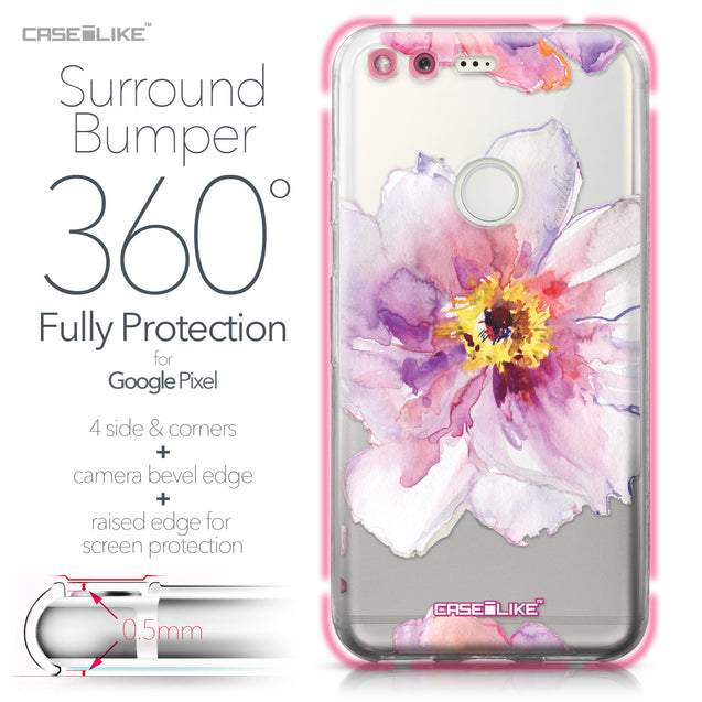 Google Pixel case Watercolor Floral 2231 Bumper Case Protection | CASEiLIKE.com