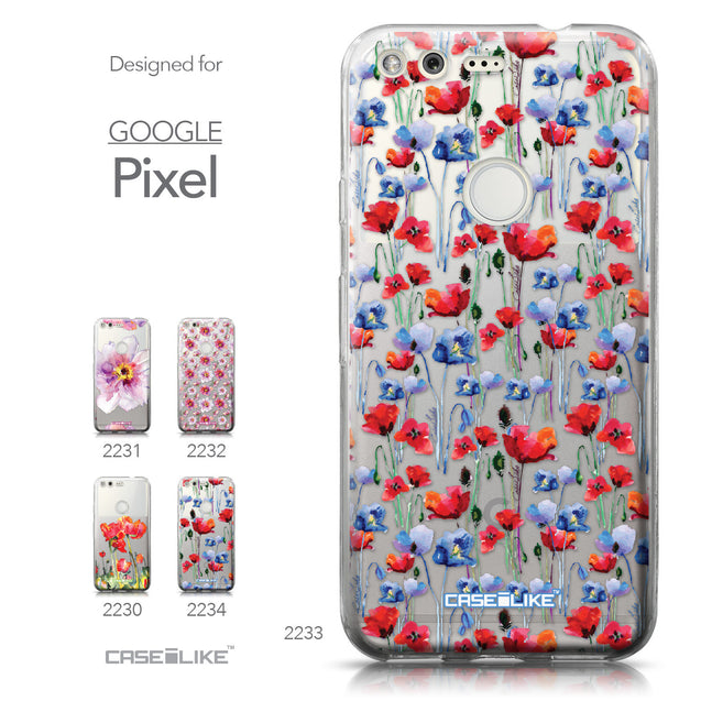 Google Pixel case Watercolor Floral 2233 Collection | CASEiLIKE.com