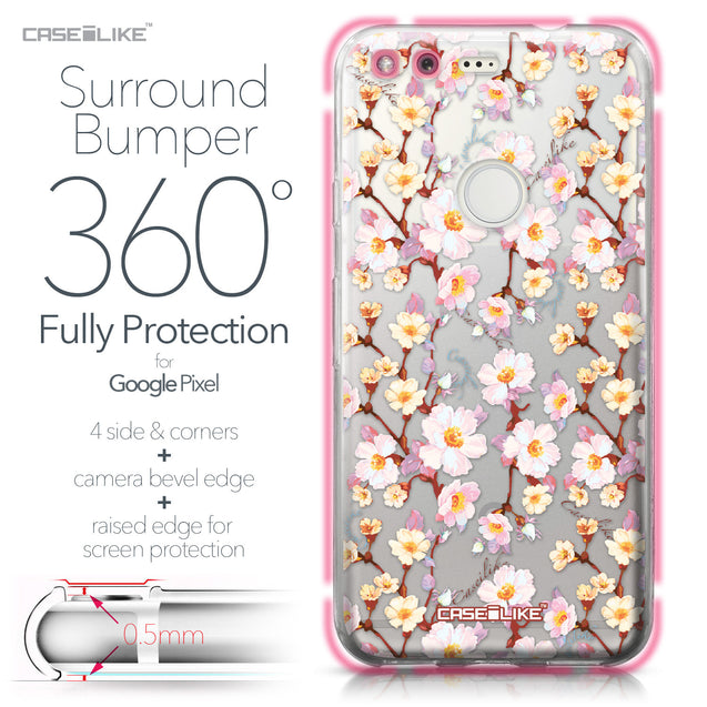 Google Pixel case Watercolor Floral 2236 Bumper Case Protection | CASEiLIKE.com