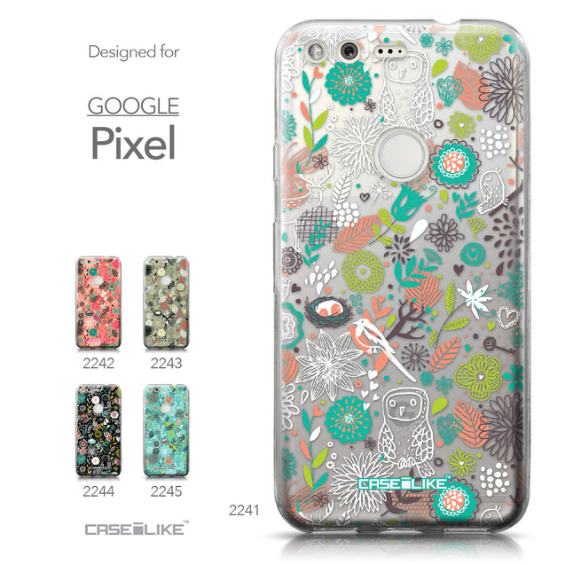 Google Pixel case Spring Forest White 2241 Collection | CASEiLIKE.com