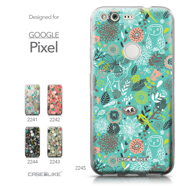 Google Pixel case Spring Forest Turquoise 2245 Collection | CASEiLIKE.com