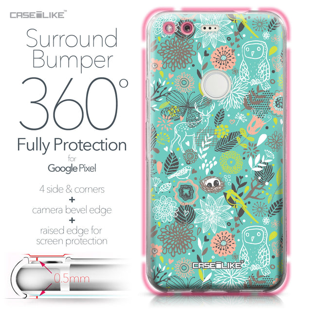 Google Pixel case Spring Forest Turquoise 2245 Bumper Case Protection | CASEiLIKE.com