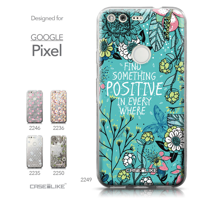 Google Pixel case Blooming Flowers Turquoise 2249 Collection | CASEiLIKE.com