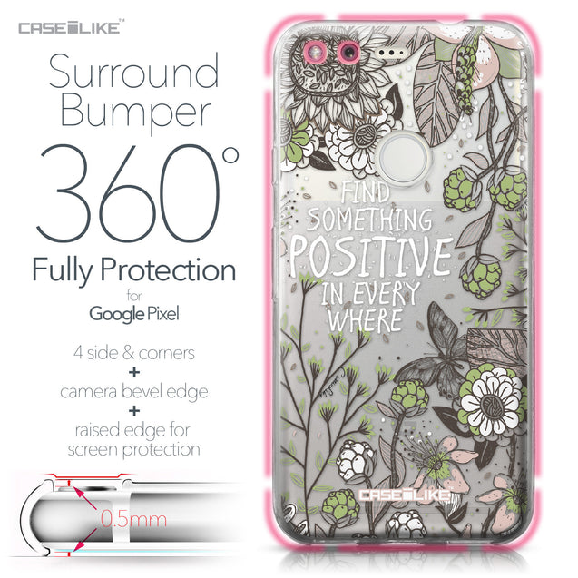 Google Pixel case Blooming Flowers 2250 Bumper Case Protection | CASEiLIKE.com