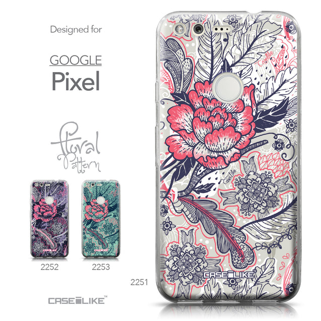 Google Pixel case Vintage Roses and Feathers Beige 2251 Collection | CASEiLIKE.com