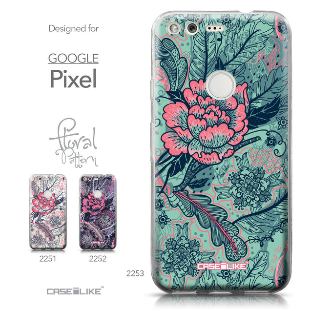 Google Pixel case Vintage Roses and Feathers Turquoise 2253 Collection | CASEiLIKE.com