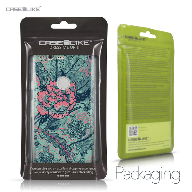 Google Pixel case Vintage Roses and Feathers Turquoise 2253 Retail Packaging | CASEiLIKE.com