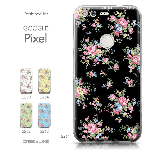 Google Pixel case Floral Rose Classic 2261 Collection | CASEiLIKE.com