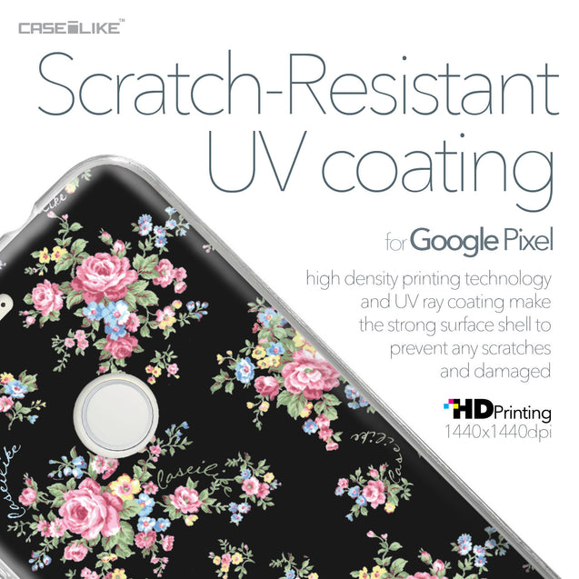 Google Pixel case Floral Rose Classic 2261 with UV-Coating Scratch-Resistant Case | CASEiLIKE.com