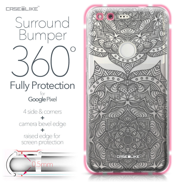 Google Pixel case Mandala Art 2304 Bumper Case Protection | CASEiLIKE.com