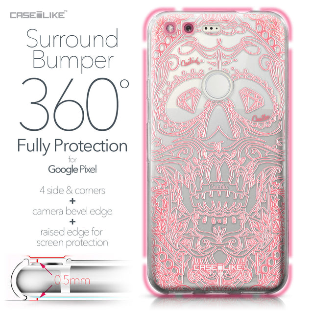 Google Pixel case Art of Skull 2525 Bumper Case Protection | CASEiLIKE.com