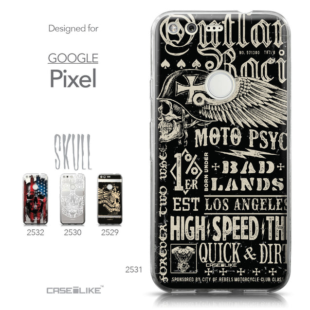 Google Pixel case Art of Skull 2531 Collection | CASEiLIKE.com