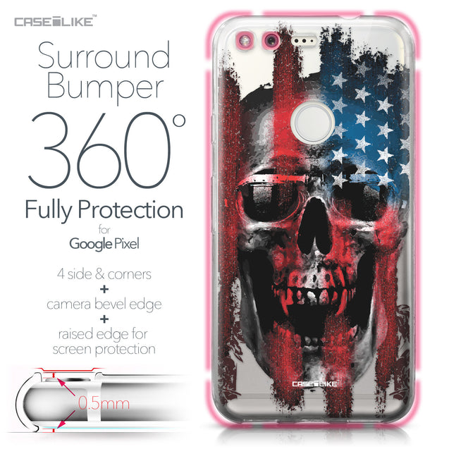 Google Pixel case Art of Skull 2532 Bumper Case Protection | CASEiLIKE.com