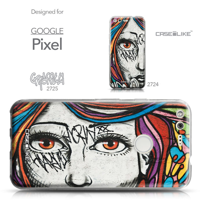 Google Pixel case Graffiti Girl 2725 Collection | CASEiLIKE.com