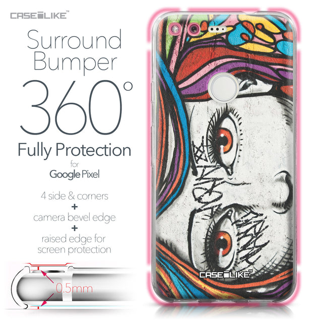 Google Pixel case Graffiti Girl 2725 Bumper Case Protection | CASEiLIKE.com