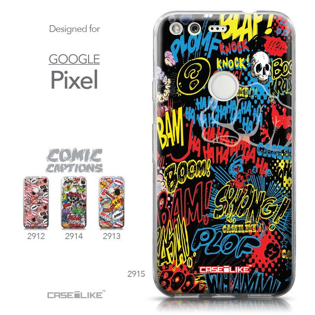Google Pixel case Comic Captions Black 2915 Collection | CASEiLIKE.com