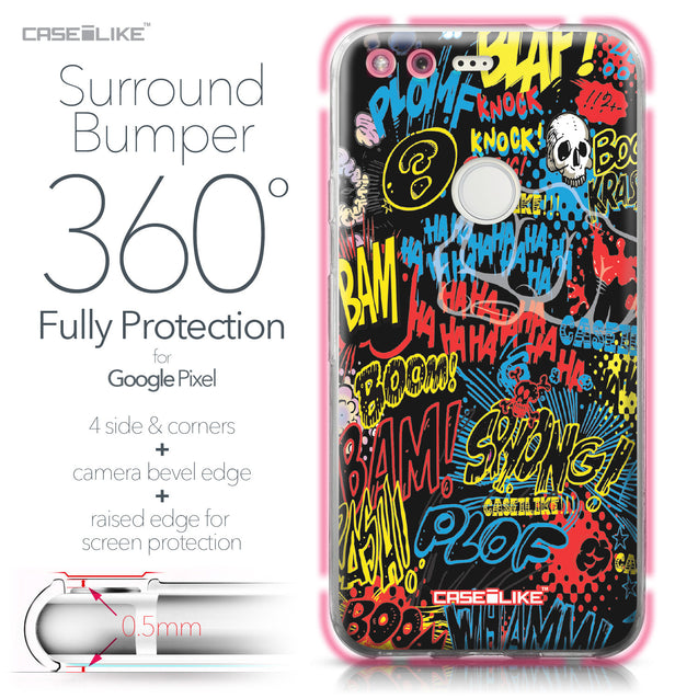 Google Pixel case Comic Captions Black 2915 Bumper Case Protection | CASEiLIKE.com