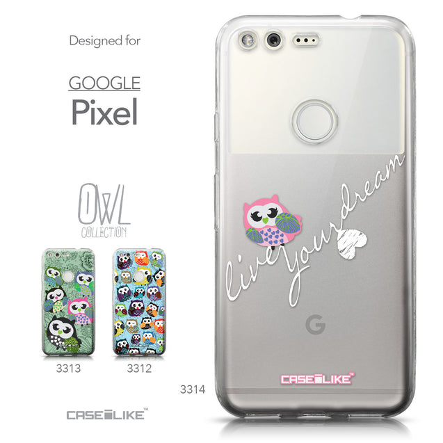 Google Pixel case Owl Graphic Design 3314 Collection | CASEiLIKE.com
