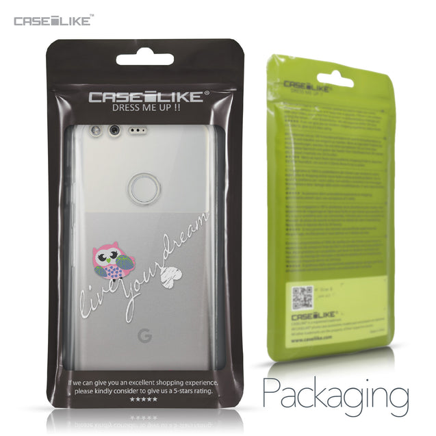 Google Pixel case Owl Graphic Design 3314 Retail Packaging | CASEiLIKE.com