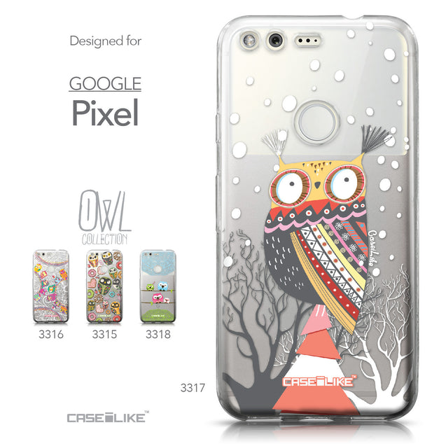 Google Pixel case Owl Graphic Design 3317 Collection | CASEiLIKE.com