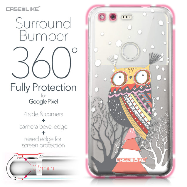 Google Pixel case Owl Graphic Design 3317 Bumper Case Protection | CASEiLIKE.com