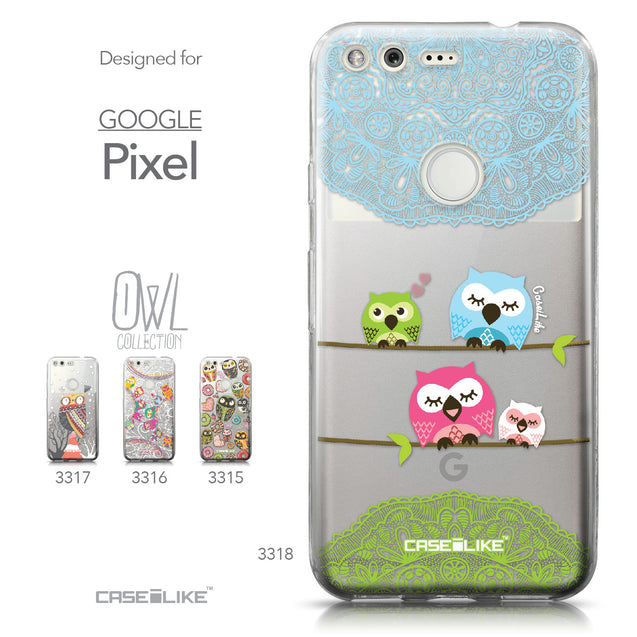 Google Pixel case Owl Graphic Design 3318 Collection | CASEiLIKE.com
