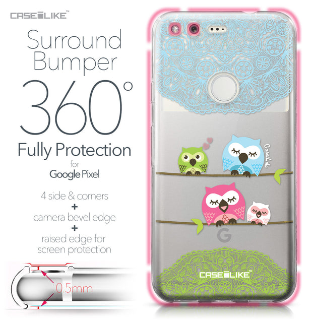 Google Pixel case Owl Graphic Design 3318 Bumper Case Protection | CASEiLIKE.com