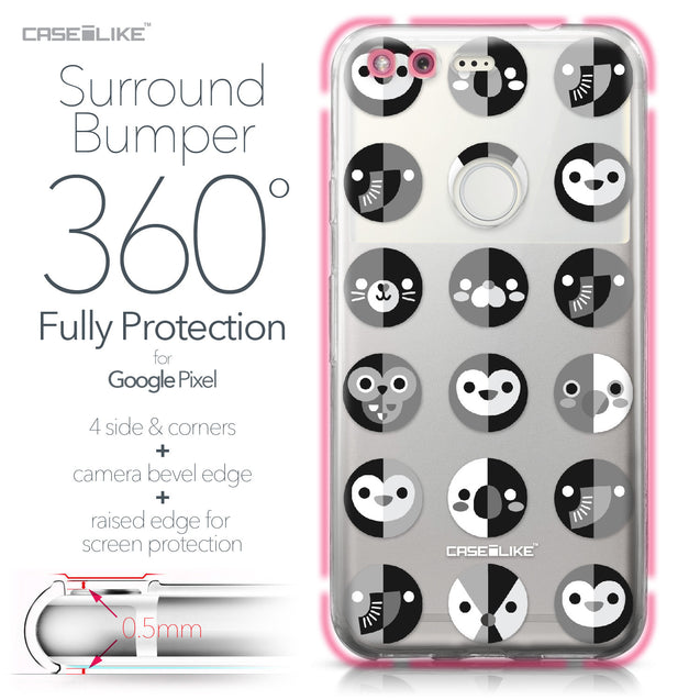 Google Pixel case Animal Cartoon 3639 Bumper Case Protection | CASEiLIKE.com