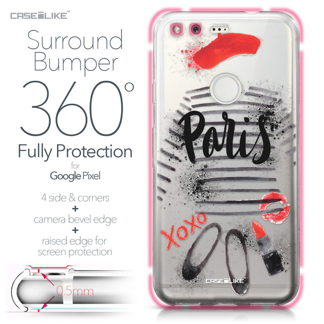 Google Pixel case Paris Holiday 3909 Bumper Case Protection | CASEiLIKE.com
