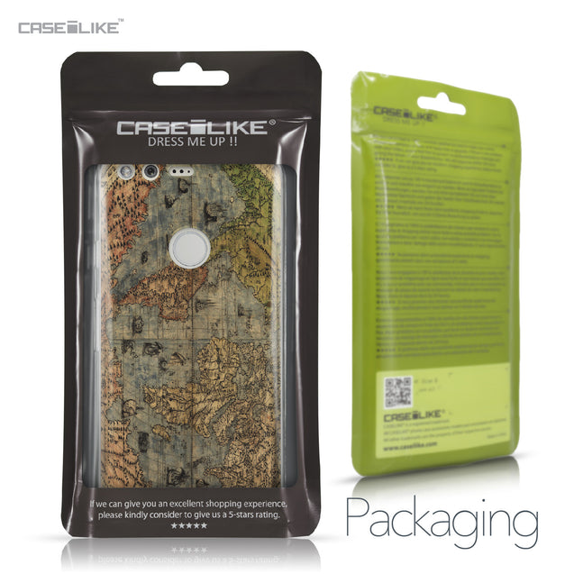 Google Pixel case World Map Vintage 4608 Retail Packaging | CASEiLIKE.com