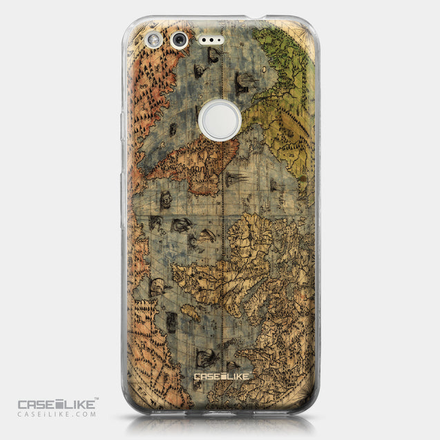 Google Pixel case World Map Vintage 4608 | CASEiLIKE.com