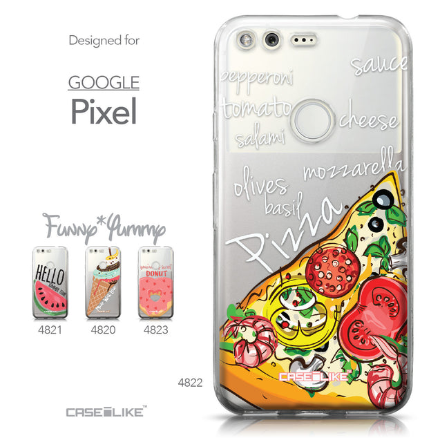 Google Pixel case Pizza 4822 Collection | CASEiLIKE.com