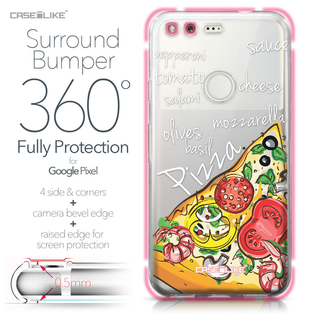 Google Pixel case Pizza 4822 Bumper Case Protection | CASEiLIKE.com