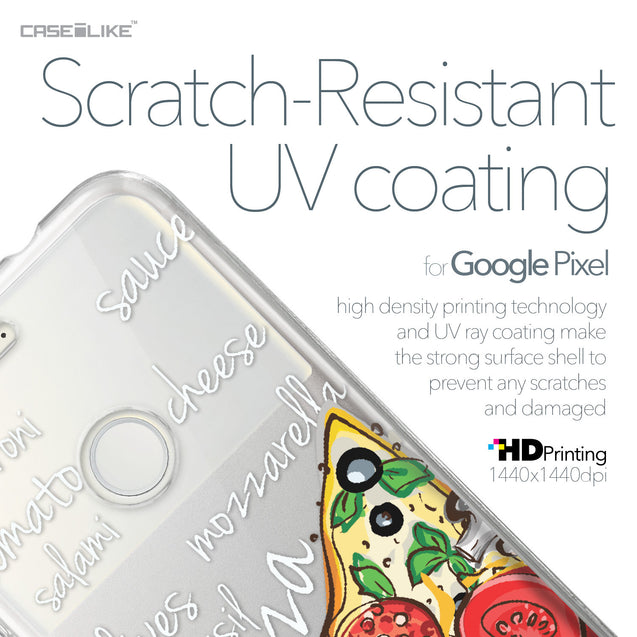 Google Pixel case Pizza 4822 with UV-Coating Scratch-Resistant Case | CASEiLIKE.com