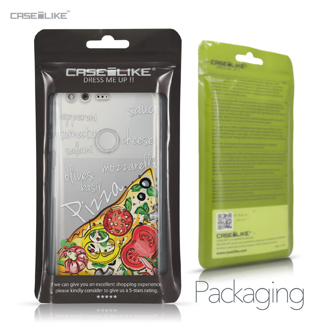 Google Pixel case Pizza 4822 Retail Packaging | CASEiLIKE.com