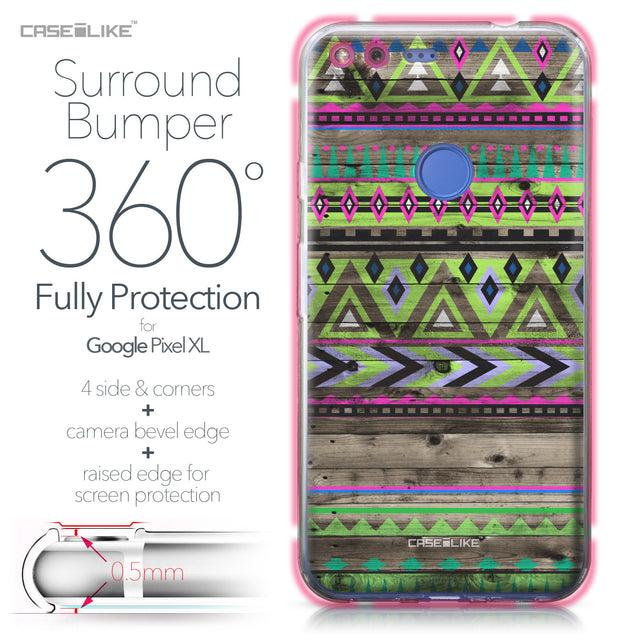 Google Pixel XL case Indian Tribal Theme Pattern 2049 Bumper Case Protection | CASEiLIKE.com